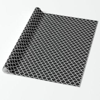 Papier Cadeau Motif blanc noir #2 de Quatrefoil