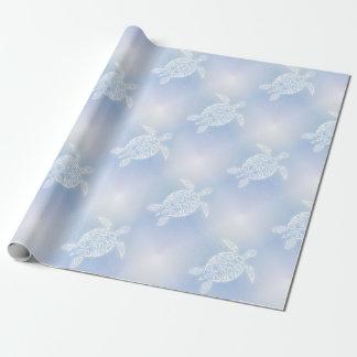 Papier Cadeau Motif bleu de tortues