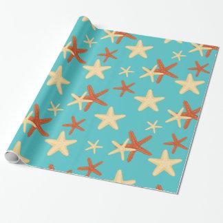 Papier Cadeau Motif d'arrière - plan d'étoiles de mer - papier