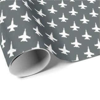 Papier Cadeau Motif d'avion de chasse de frelon de F/A-18C sur