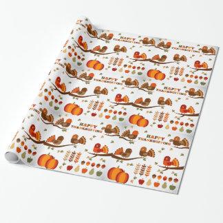 Papier Cadeau Motif de bon thanksgiving