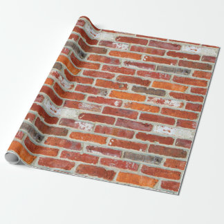 Papier Cadeau Motif de brique rouge