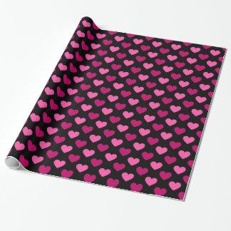 Papier Cadeau Motif de coeur de Valentine