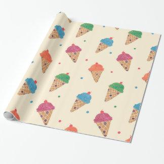 Papier Cadeau Motif de crème glacée d'amusement