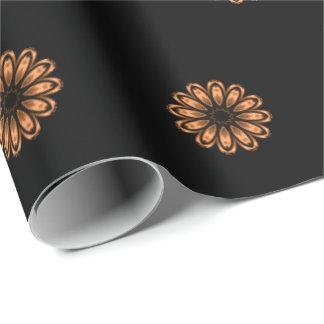 Papier Cadeau Motif de cuivre et noir 2 de mandala