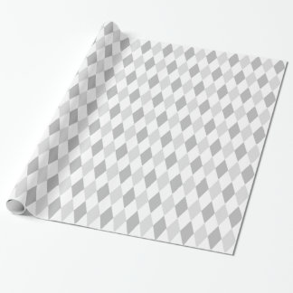 Papier Cadeau Motif de diamant de harlequin de deux gris