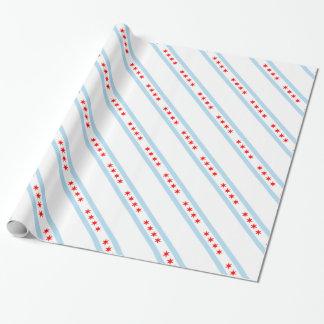 Papier Cadeau Motif de drapeau de Chicago
