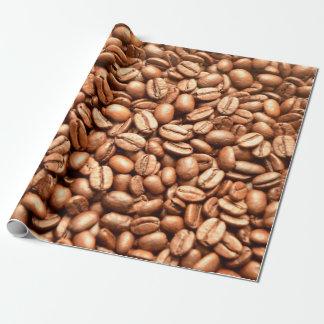 Papier Cadeau Motif de grains de café de magasin de café de