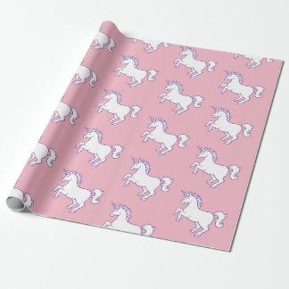 Papier Cadeau Motif de licorne