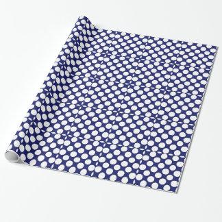 Papier Cadeau Motif de pois blanc de très bon goût de bleu