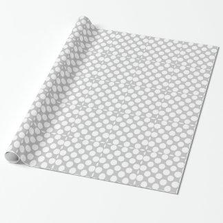 Papier Cadeau Motif de pois moderne de blanc gris