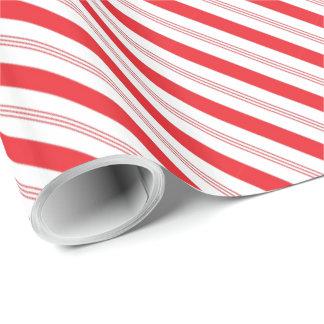 Papier Cadeau Motif de rayure de sucre de canne