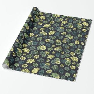 Papier Cadeau Motif de Succulents
