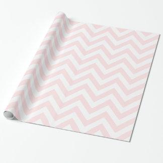 Papier Cadeau Motif de zigzag rose-clair du blanc XL Chevron