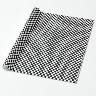 Papier Cadeau motif d'échiquier noir et blanc