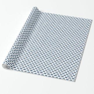Papier Cadeau Motif drôle de moustache de scintillement de bleu
