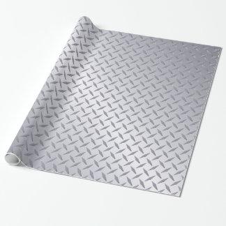 Papier Cadeau Motif en acier lumineux de plat de diamant
