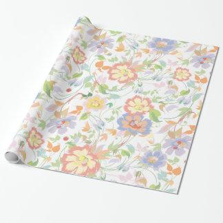 Papier Cadeau Motif floral sur toute la surface de cottage