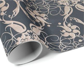 Papier Cadeau motif floral vintage