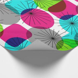 Papier Cadeau Motif géométrique moderne coloré lumineux