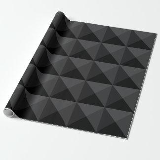 Papier Cadeau Motif géométrique moderne de carré noir