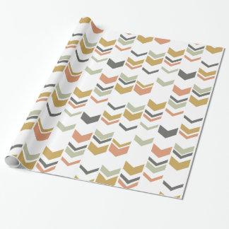 Papier Cadeau Motif géométrique moderne décalé de Chevron