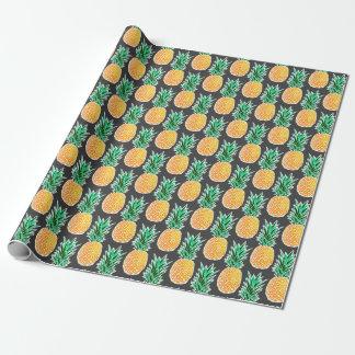 Papier Cadeau Motif géométrique tropical d'ananas
