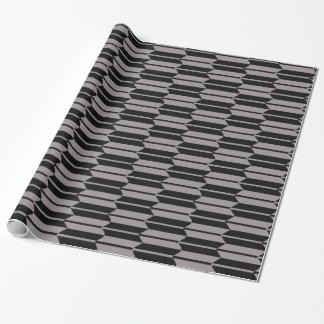 Papier Cadeau Motif gris et noir géométrique