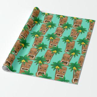 Papier Cadeau Motif hawaïen de répétition de Tiki