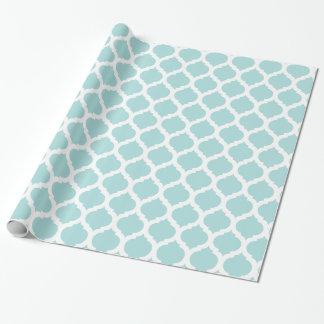 Papier Cadeau Motif marocain bleu et blanc de Tiffany