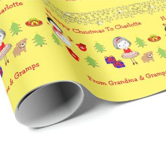 Papier Cadeau Motif mignon de vacances de Noël d'enfants