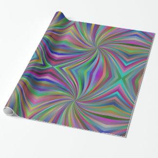 Papier Cadeau Motif multicolore psychédélique de remous