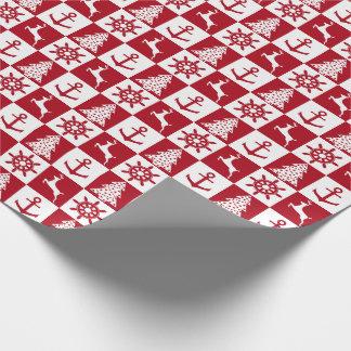 Papier Cadeau Motif nautique de Noël