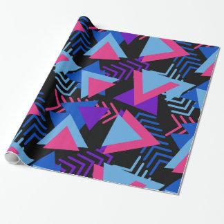 Papier Cadeau Motif pourpre, bleu, rose lumineux d'arrière -