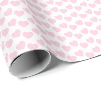 Papier Cadeau Motif rose-clair de coeur sur le papier