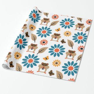 Papier Cadeau Motif sans couture de hamster et de tournesol
