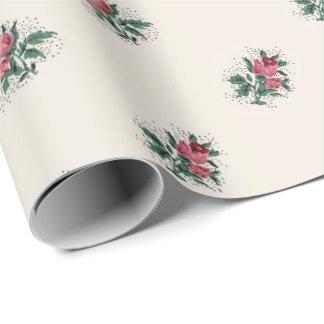 Papier Cadeau Motif vintage Girly de papier peint de roses assez