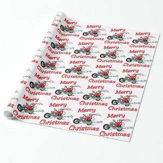 Papier Cadeau Moto Père Noël