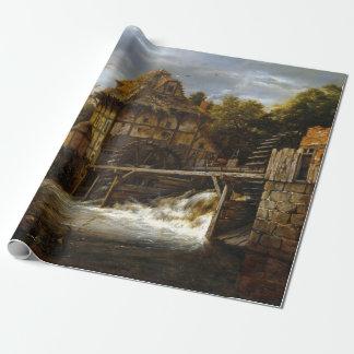 Papier Cadeau Moulins à eau à aubes de Jacob van Ruisdael deux