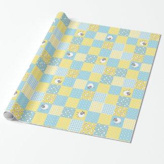 Papier Cadeau Moutons d'amusement : Style campagnard, patchwork