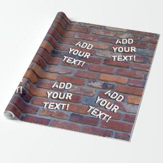 Papier Cadeau Mur de briques - briques et mortier mélangés