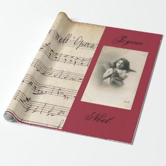 Papier Cadeau Musique de feuille française d'opéra et ENVELOPPE