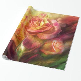 Papier Cadeau Naissance d'une enveloppe de cadeau d'art de rose