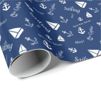 Papier Cadeau Naviguant le papier d'emballage orienté