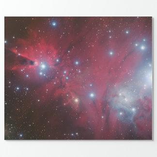 Papier Cadeau NGC 2264 et le groupe d'arbre de Noël