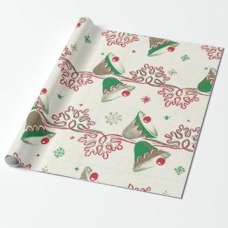 Papier Cadeau Noël Bells vintage