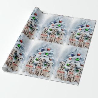 Papier Cadeau Noël dalmatien