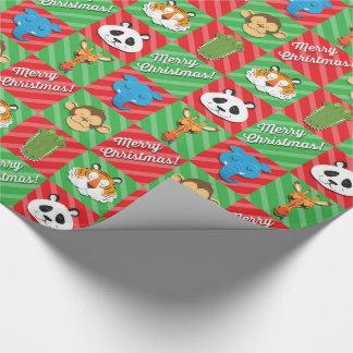 Papier Cadeau Noël d'animaux de sommeil