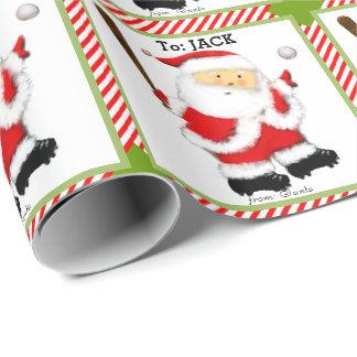 Papier Cadeau Noël de base-ball