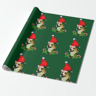 Papier Cadeau Noël de corgi de Gallois de Pembroke